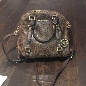 NWOT Michael Kors snakeskin bag